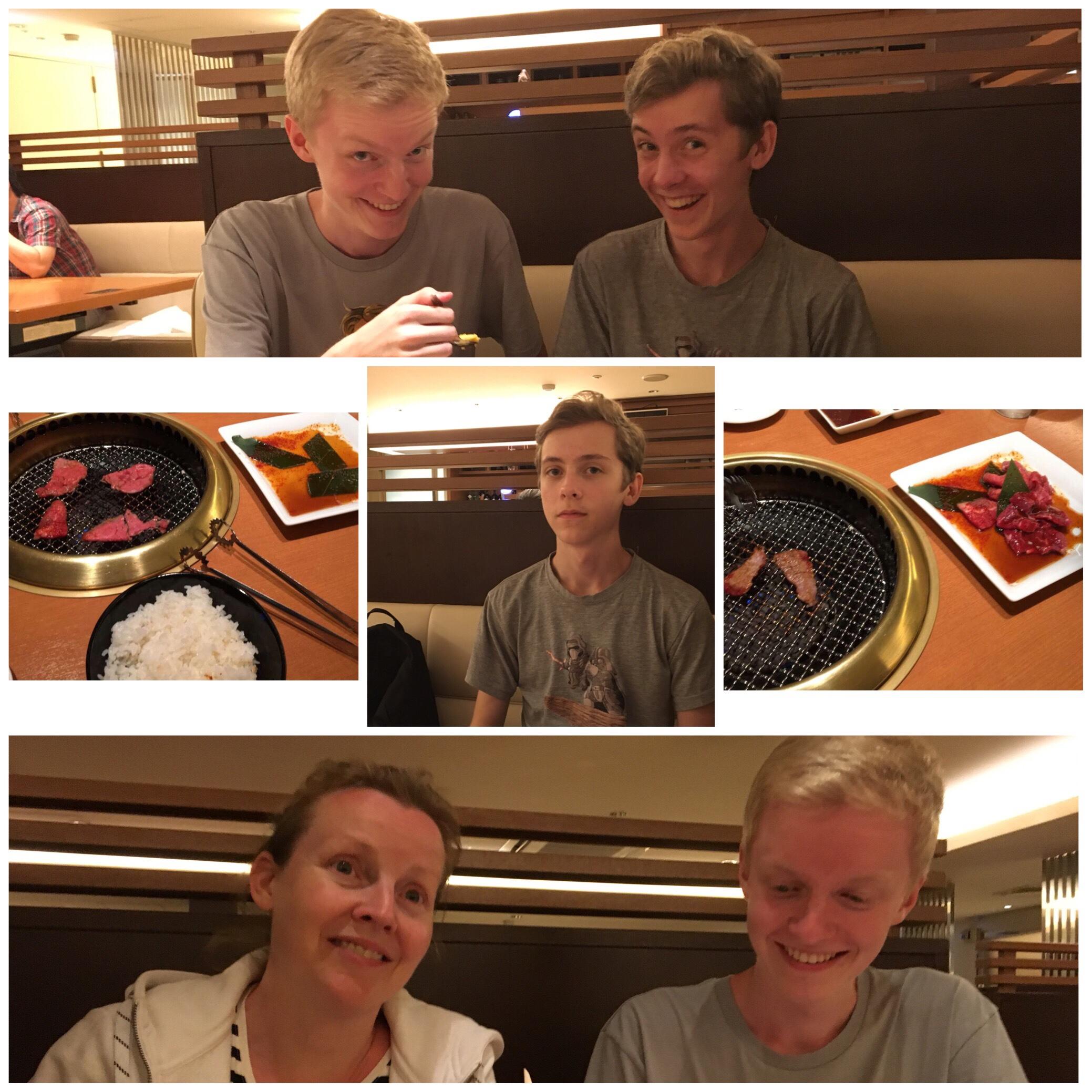 Ikväll åt vi på ett ställe där man själv får grilla sitt kött vid bordet.  Grabbarna tyckte det var både kul och gott. Själv beställde jag lite sallad  🙂 57714a87a3de4